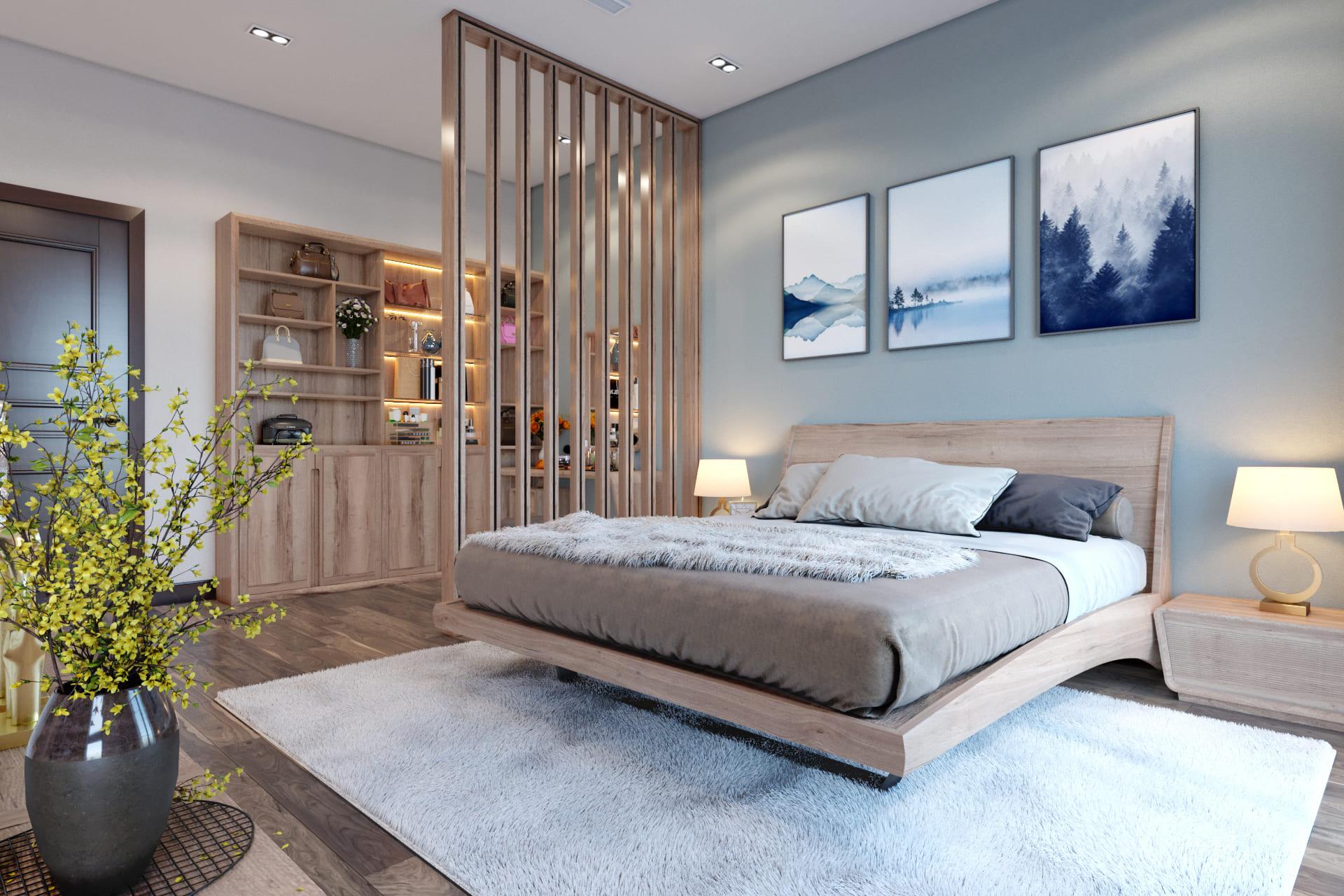 thiết kế nội thất biệt thự phòng ngủ