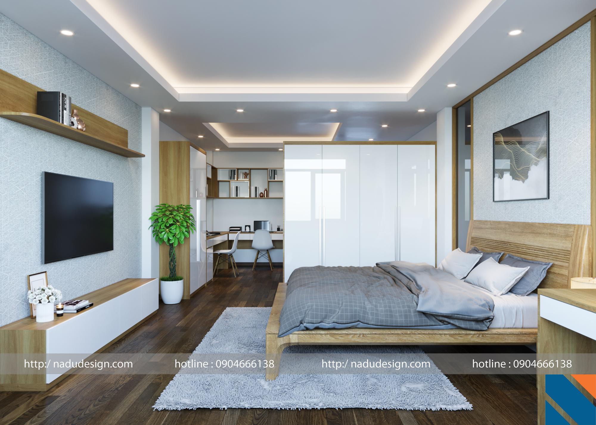 Phòng ngủ master nhà ống