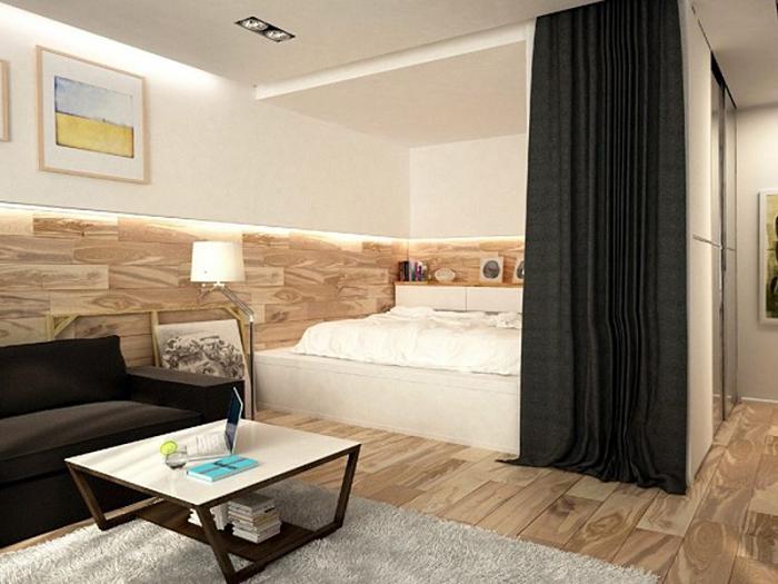 phòng khách chứa phòng ngủ
