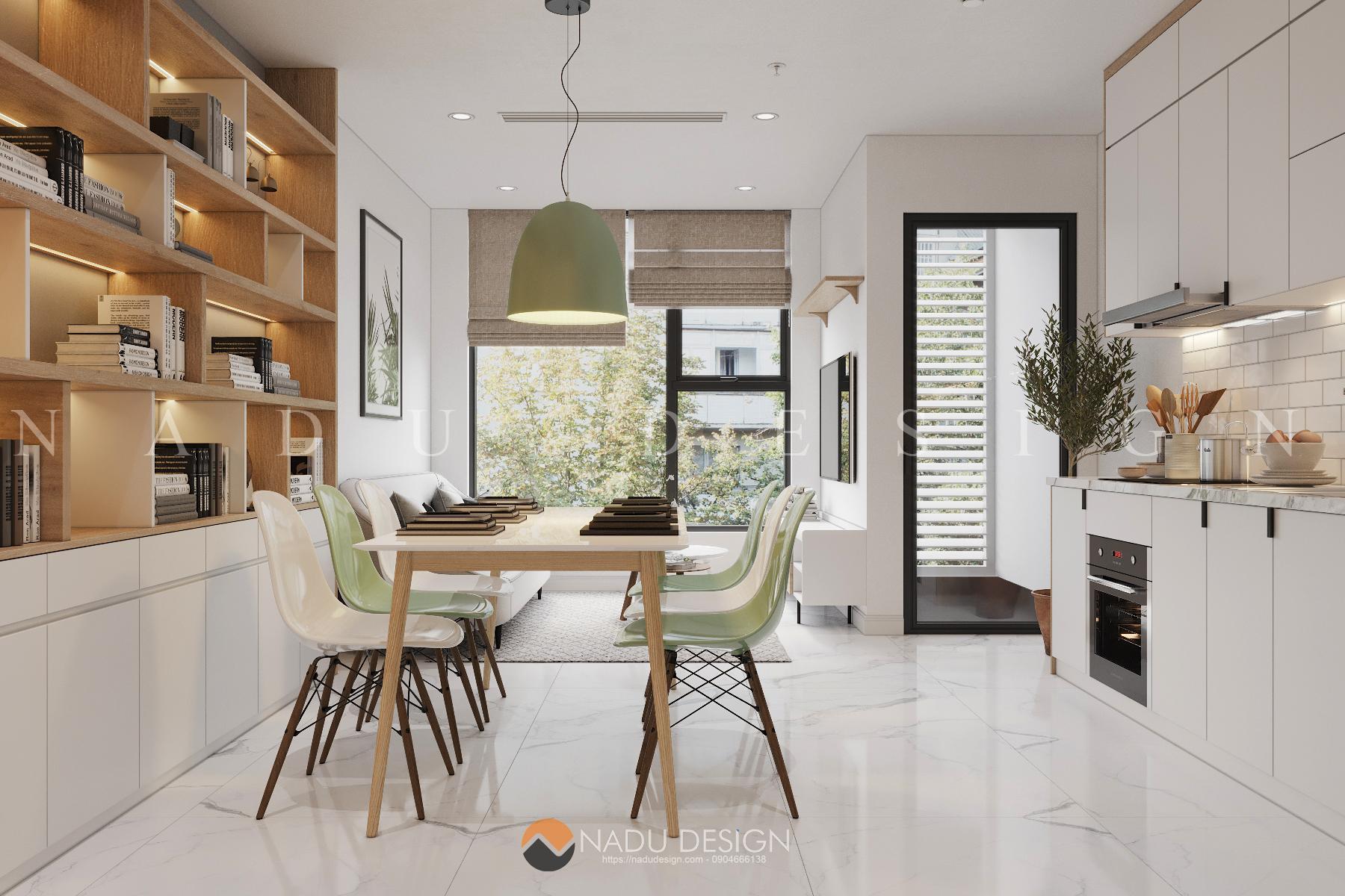 Thiết kế nội thất phòng bếp nhà phố 8