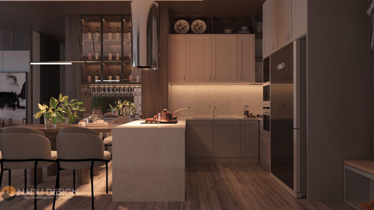thiết kế nội thất phòng bếp nhà phố 6