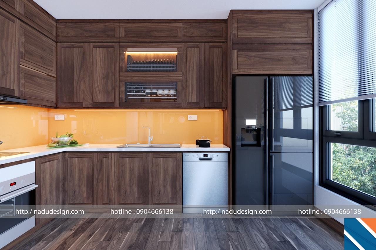 thiết kế nội thất phòng bếp biệt thự 1