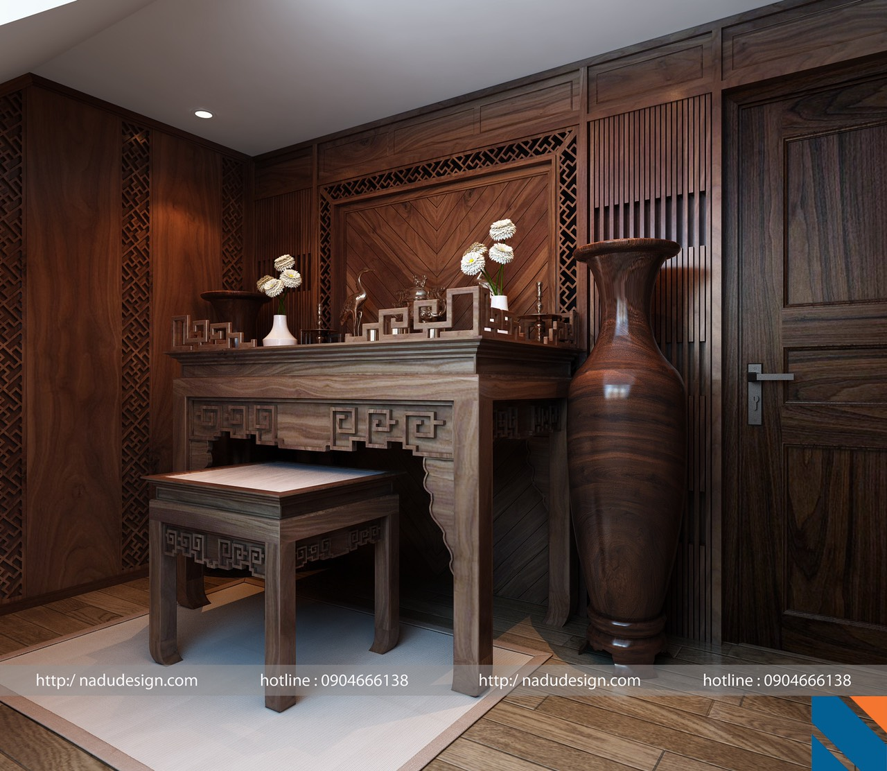 bàn thờ phật gia tiên