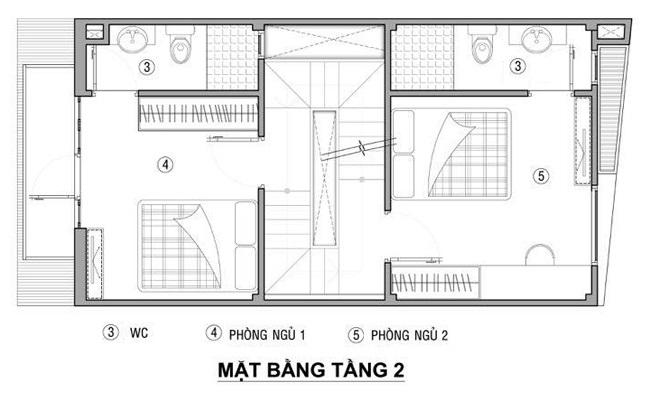 thiết kế mặt bằng nhà 40m2