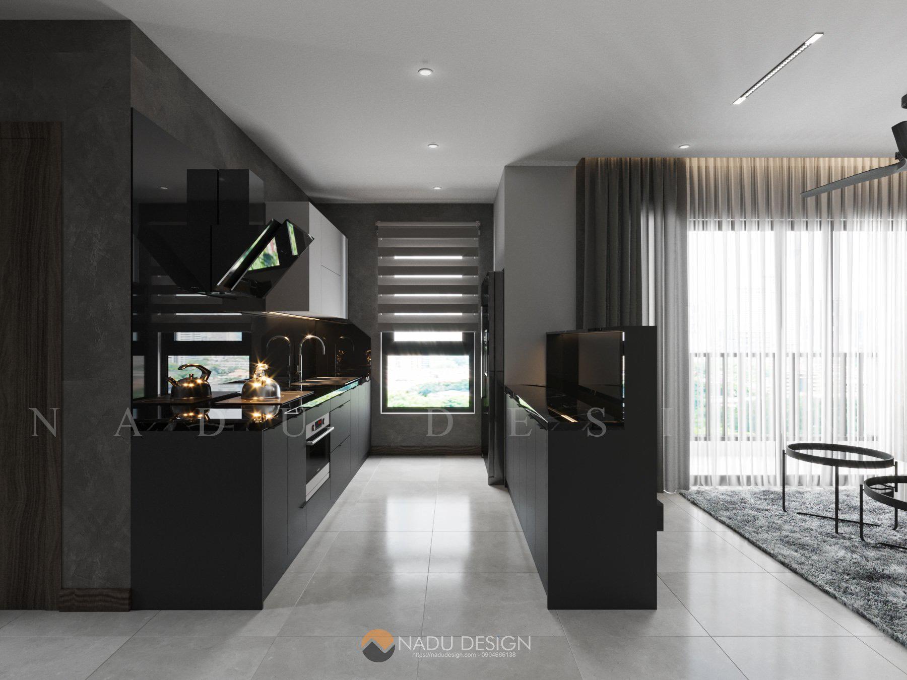 thiết kế bếp chugn cư