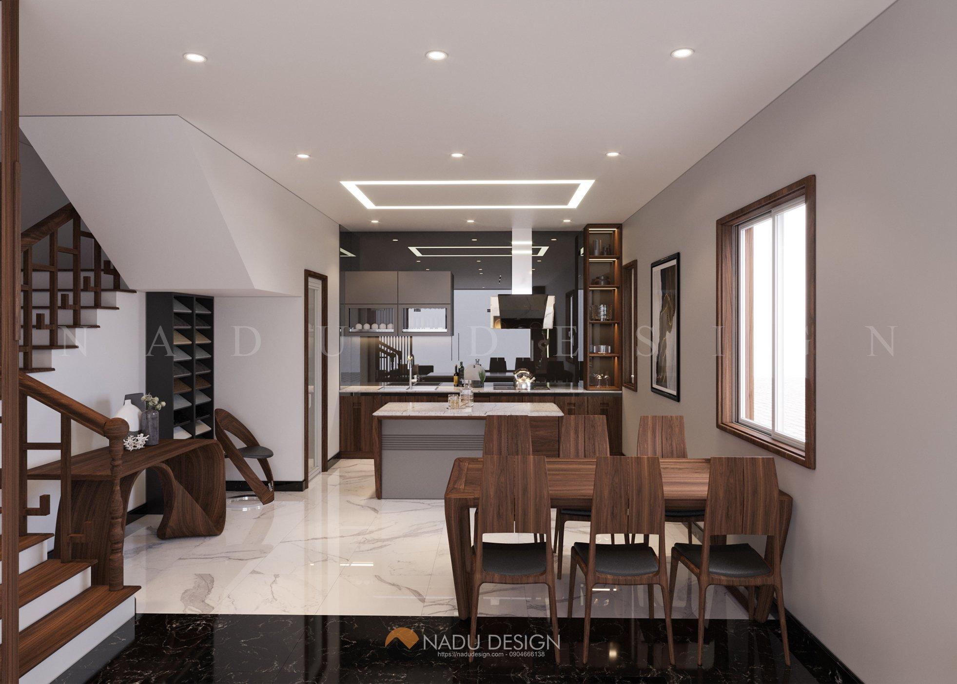phòng bếp căn hộ 40m2