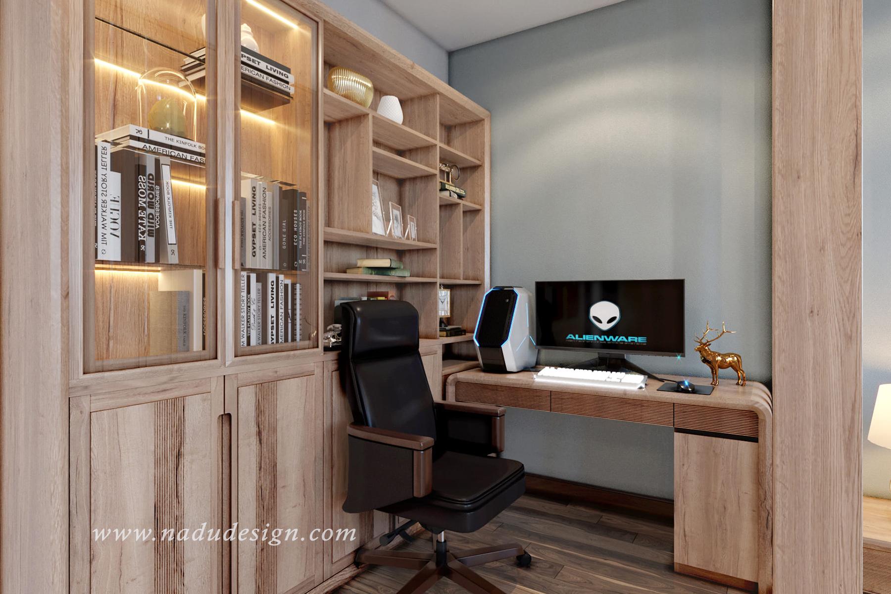 Mẫu thiết kế nội thất phòng ngủ 20m vuông sang trọng, hiện đại