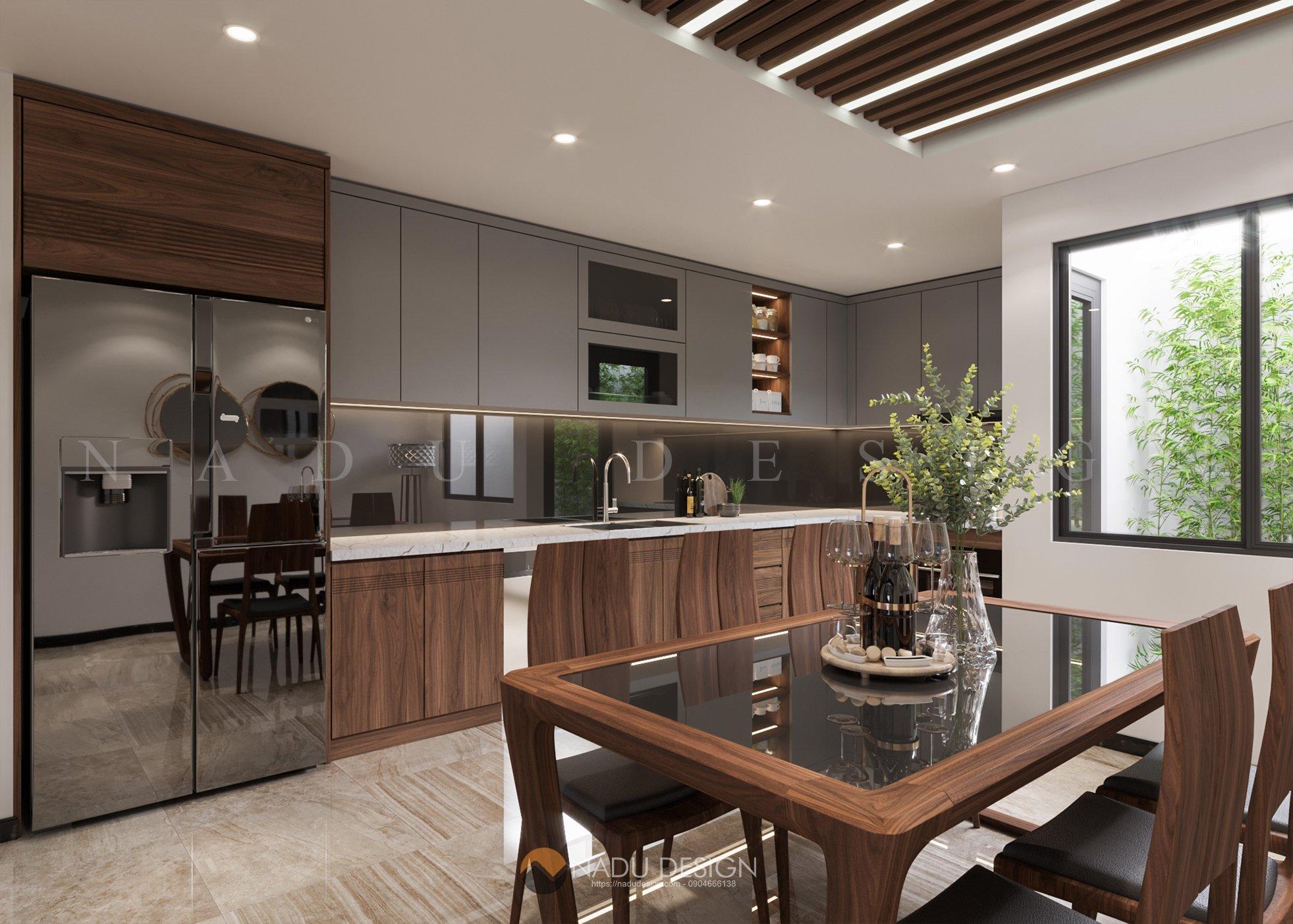 thiết kế phòng bếp nhà phố