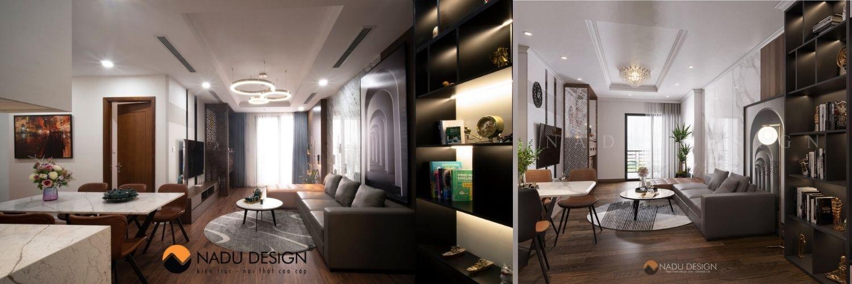 Thiết kế nội thất chung cư trọn gói gia đình chị Thúy
