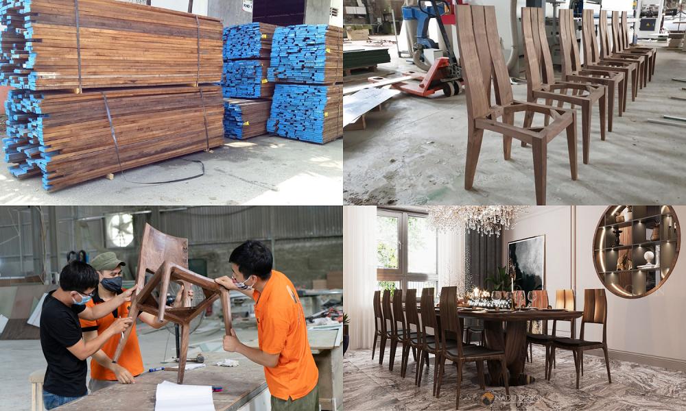 xưởng sản xuất gỗ óc chó
