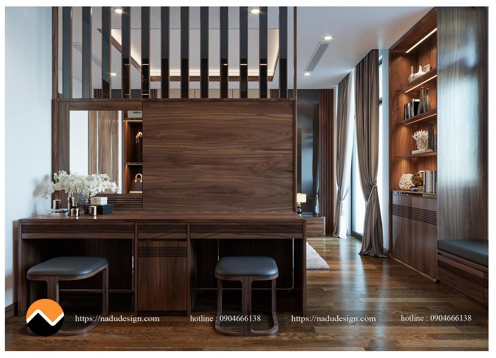 Thiết kế nội thất phòng ngủ 25m vuông đẹp cho chung cư