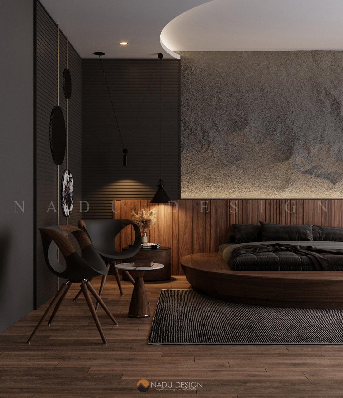 Mẫu thiết kế nội thất phòng ngủ 30m vuông sang trọng hiện đại