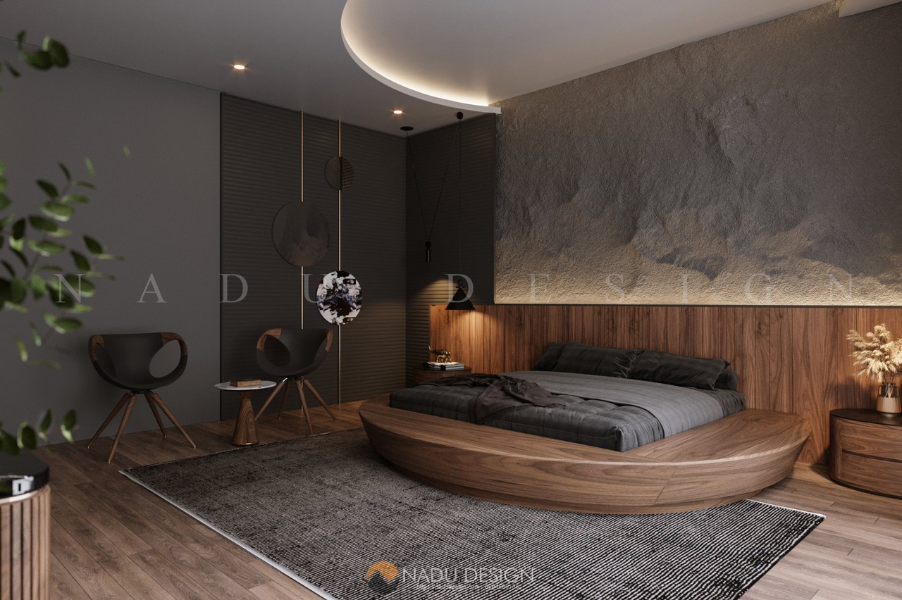 Mẫu thiết kế nội thất phòng ngủ 30m vuông đẹp hiện đại