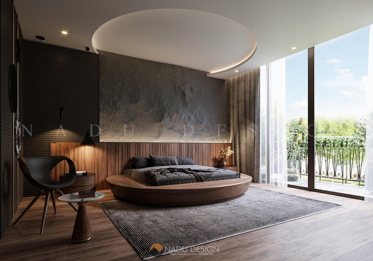 Mẫu thiết kế nội thất phòng ngủ 30m vuông đẹp sang trọng