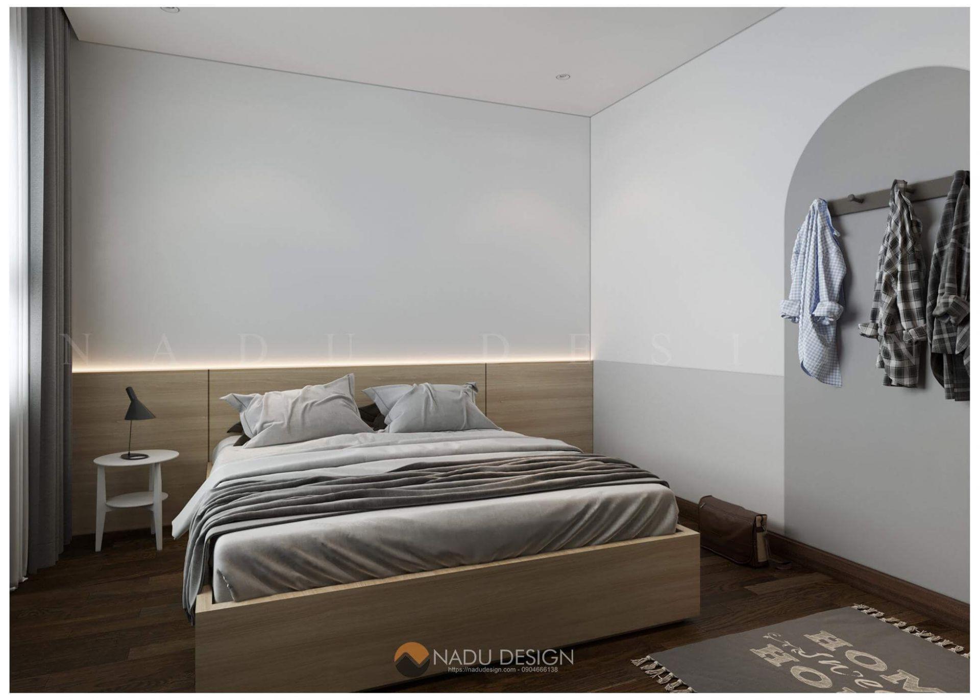 Mẫu thiết kế nội thất phòng ngủ nhỏ 6m vuông