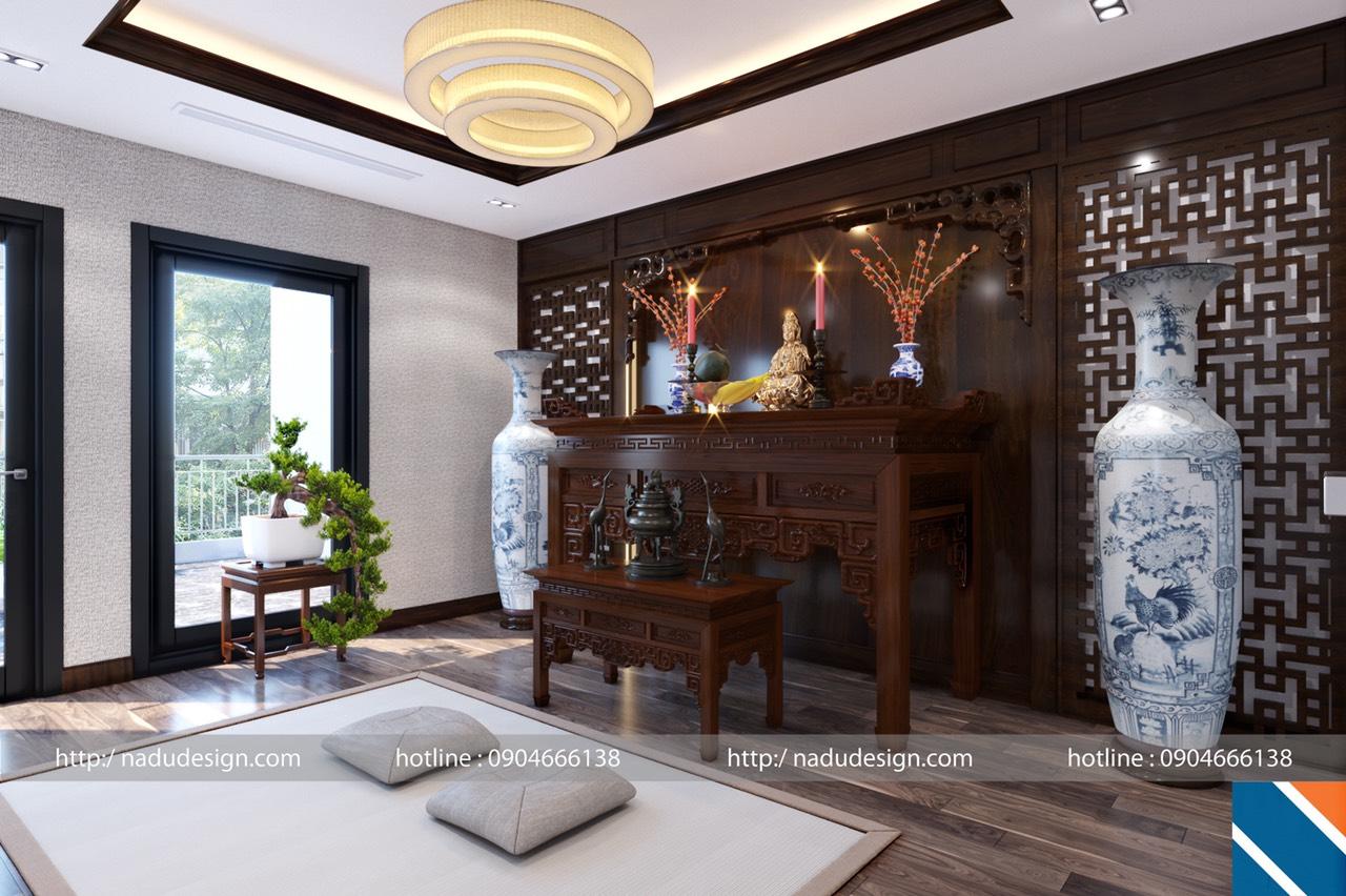 thiết kế phòng thờ biệt thự