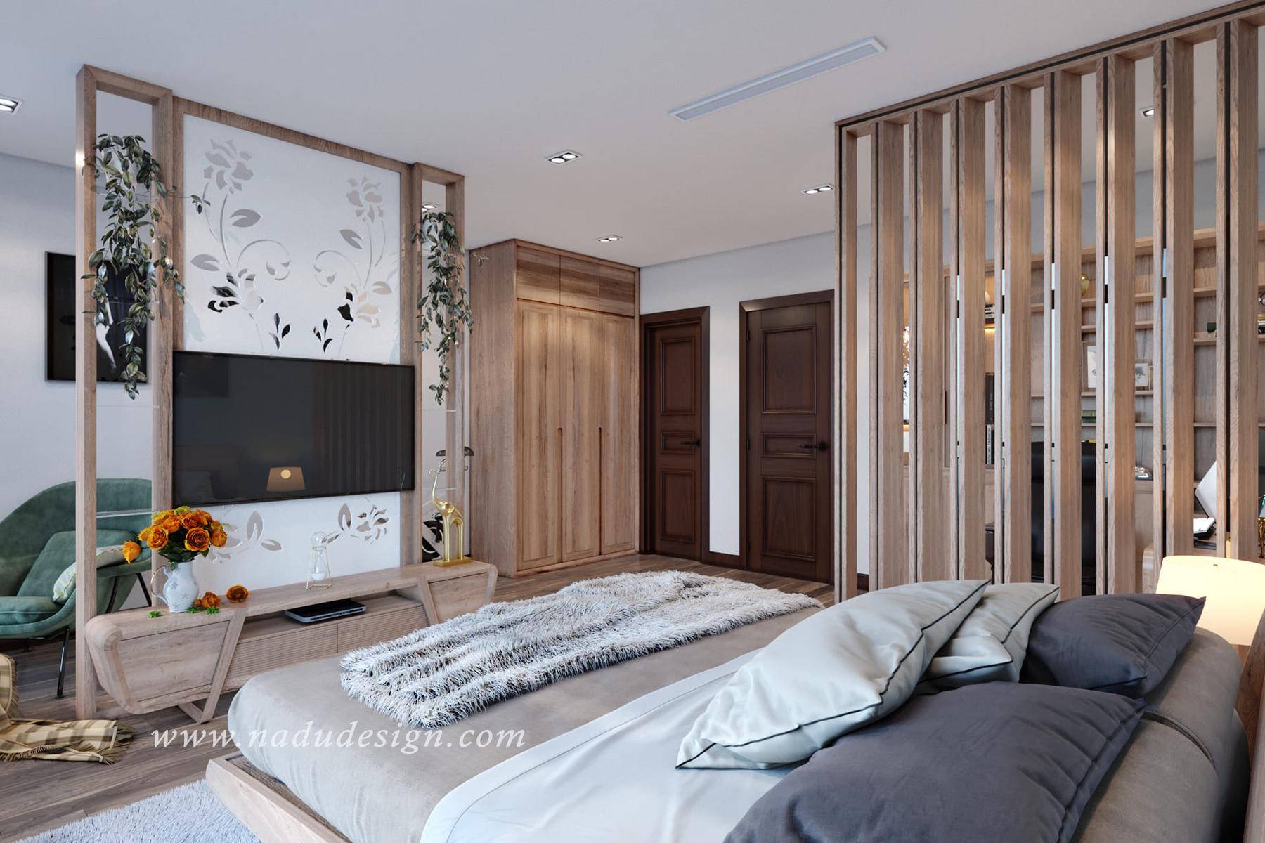 thiết kế phòng ngủ 30m2