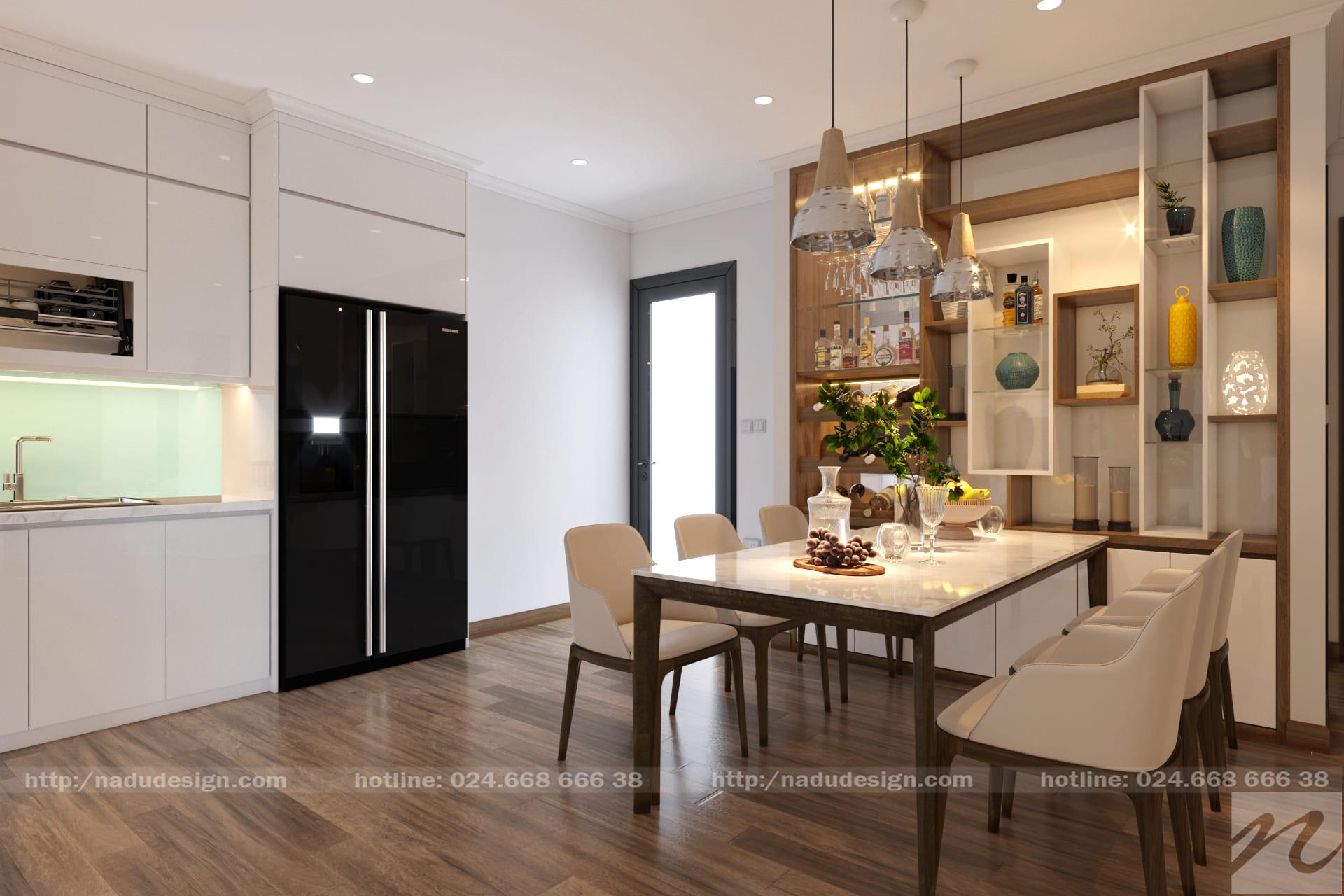 Thiết kế nội thất phòng bếp nhà phố 9