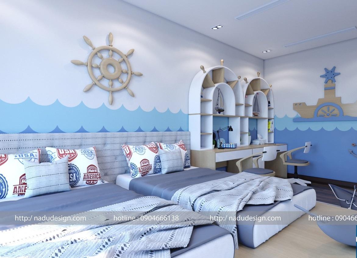phòng ngủ cho bé 30m2