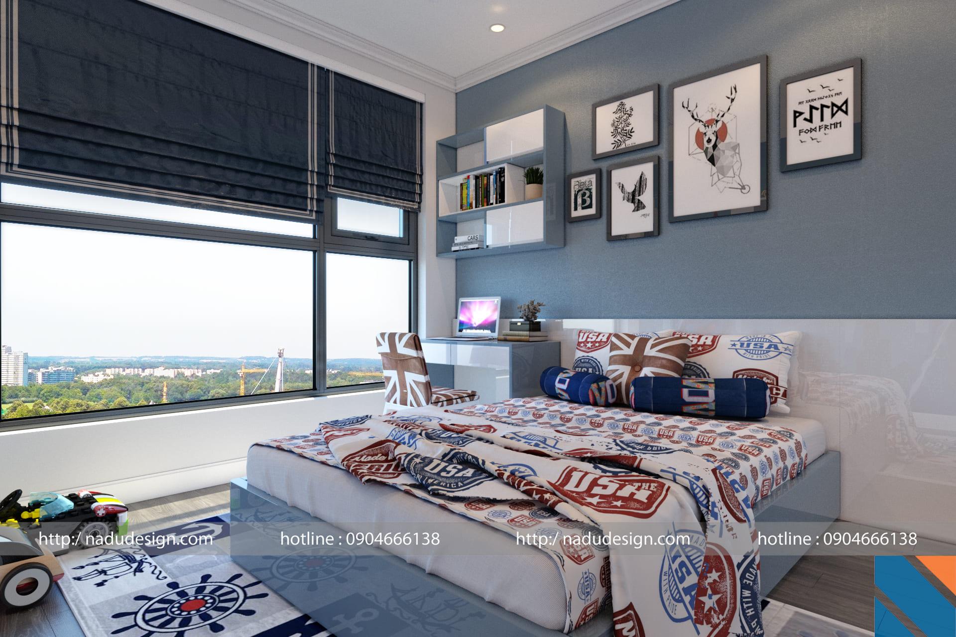 mẫu phòng ngủ cho bé trai