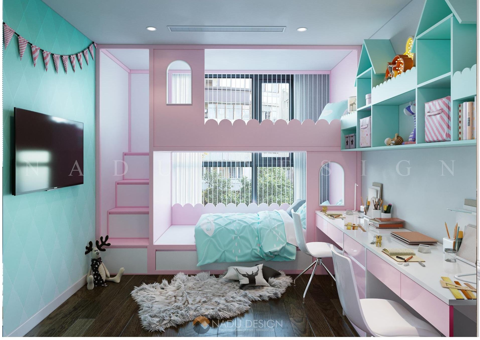 mẫu phòng ngủ giường tầng