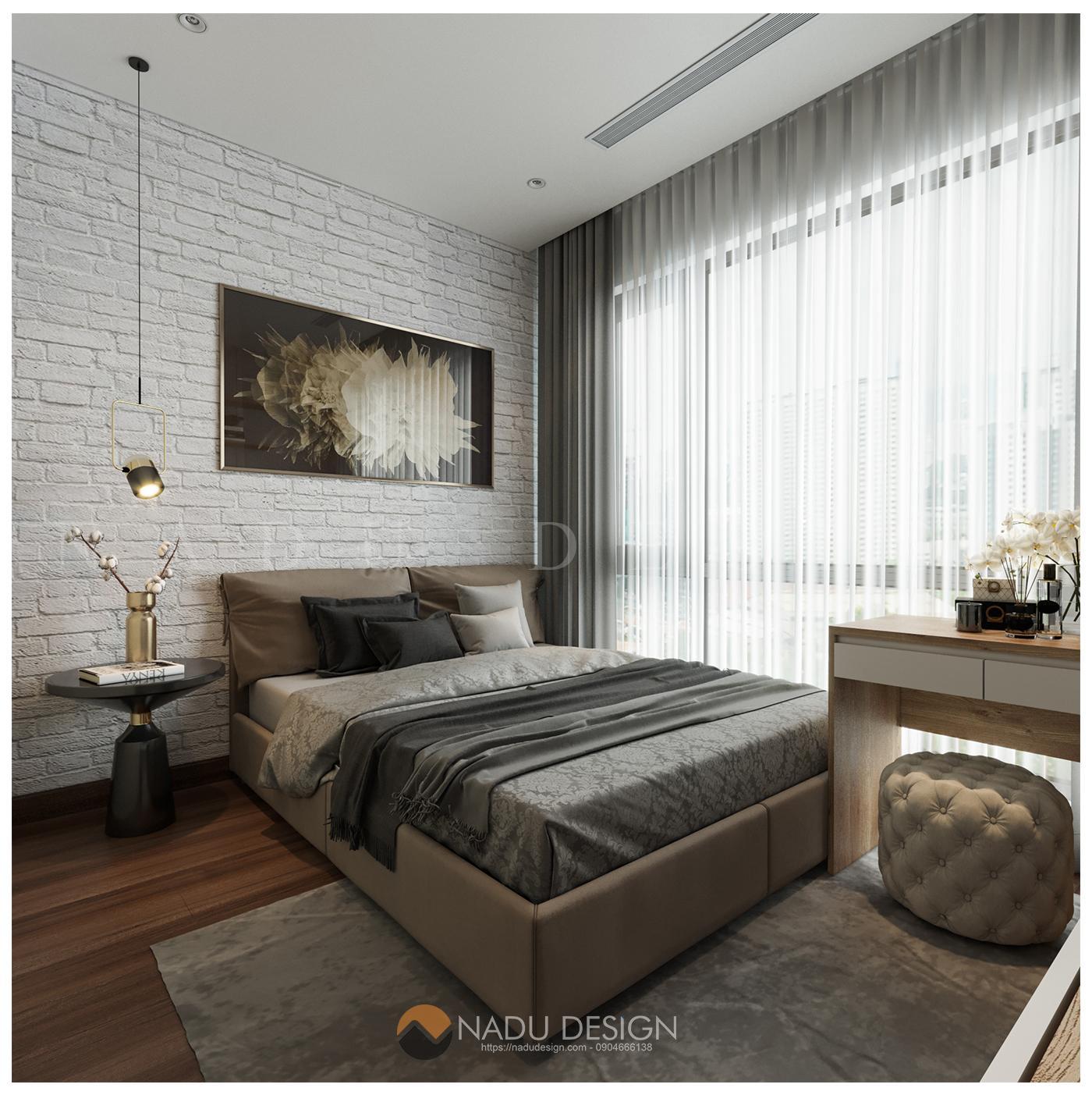 mẫu phòng ngủ chung cư 70m2