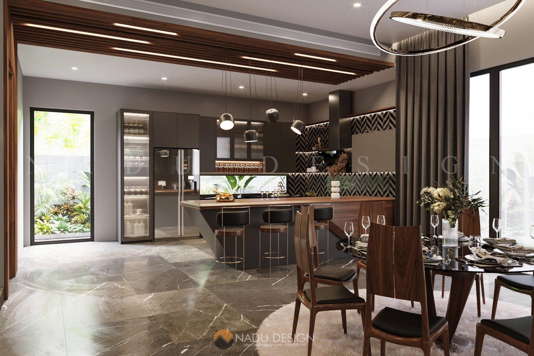 Thiết kế nội thất phòng bếp biệt thự 0
