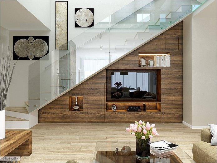 tủ âm tường cầu thang
