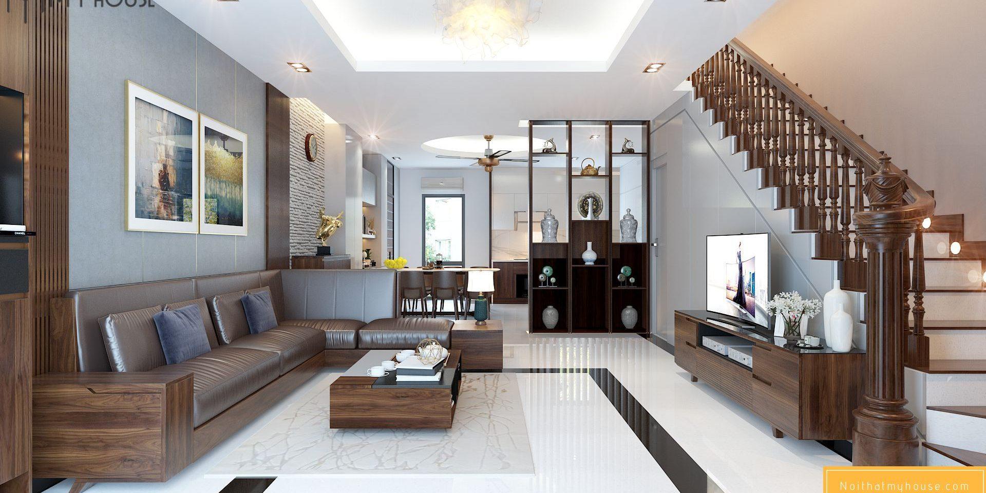 Sắp xếp đồ đạc trong thiết kế nội thất theo phong cách đương đại