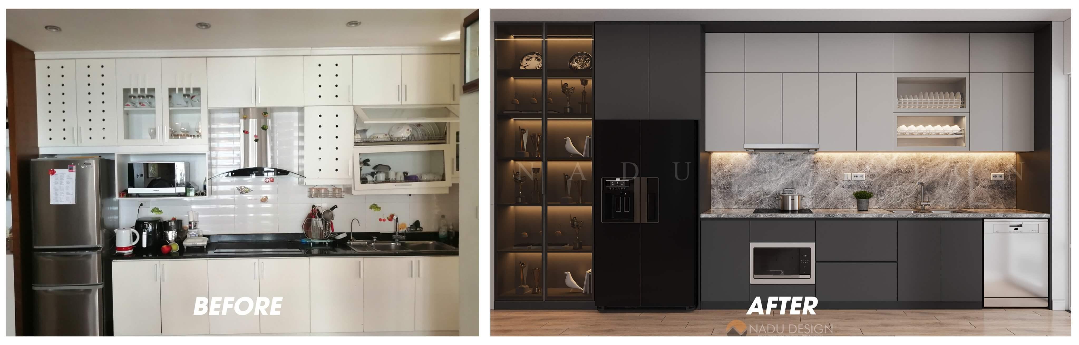 Thiết kế cải tạo nội thất phòng bếp