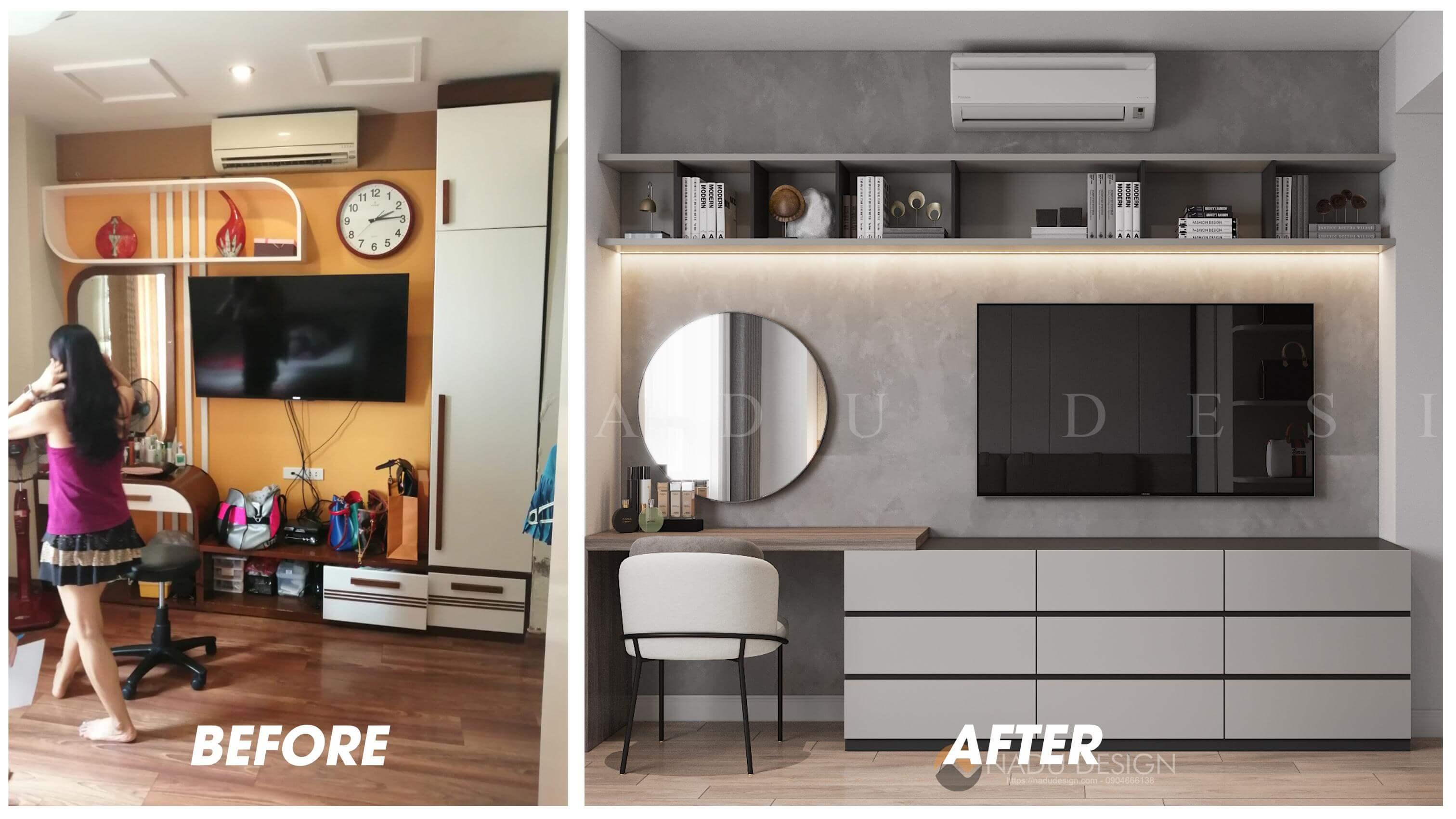 Thiết kế cải tạo nội thất phòng ngủ master