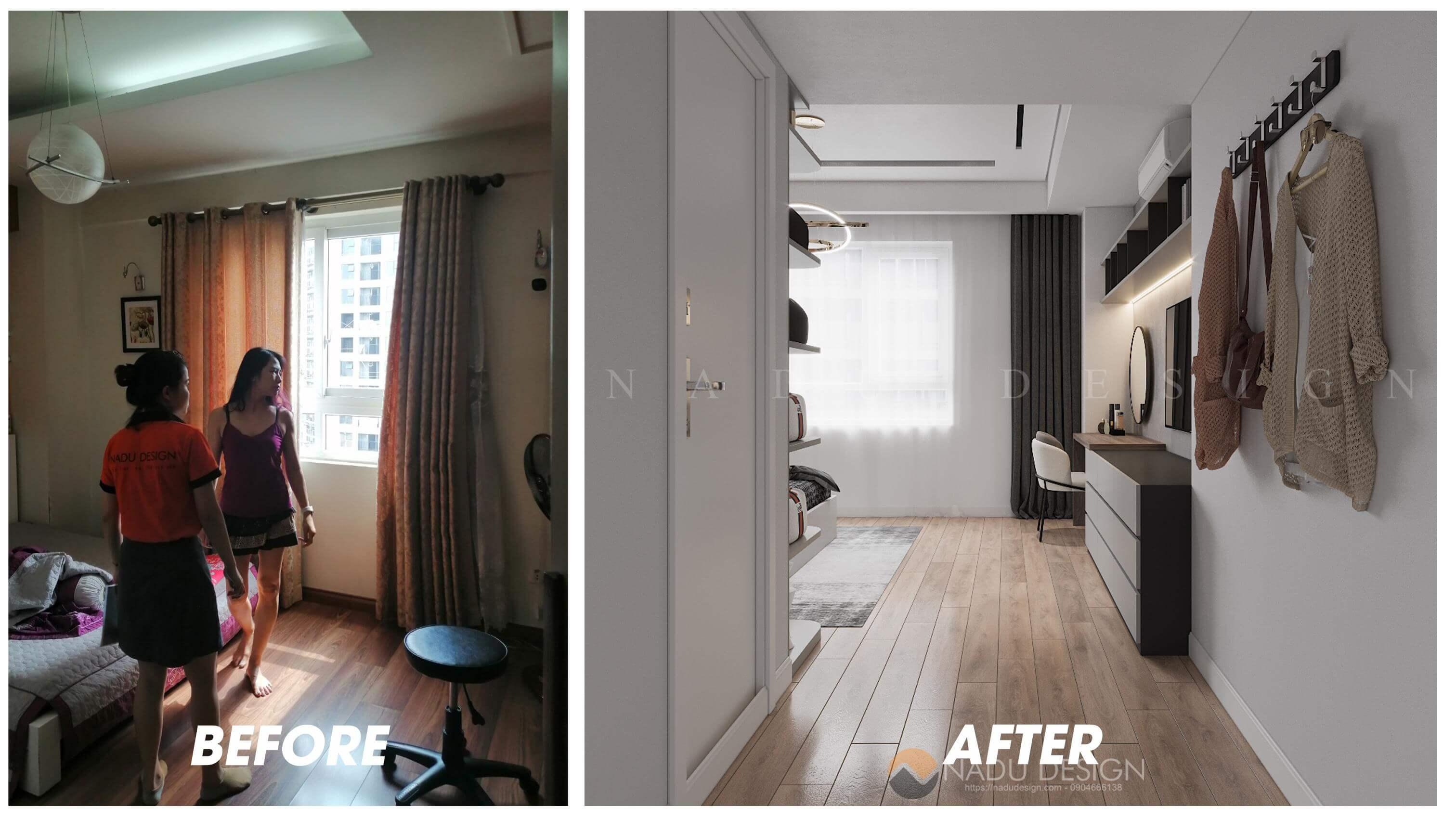 Thiết kế cải tạo nội thất phòng ngủ