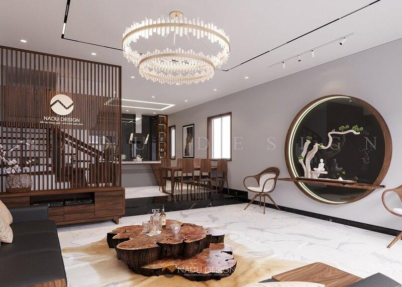 Showroom nội thất gỗ óc chó NaDu Design