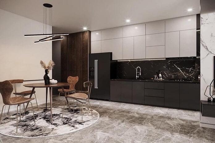 Thi công tủ bếp chung cư phong cách hiện đại