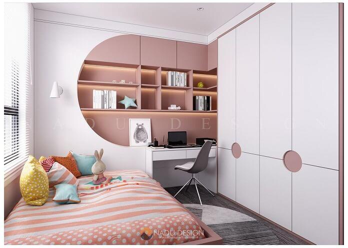 Thiết kế nội thất phòng ngủ nhỏ chung cư 70m2