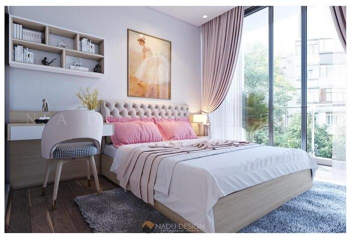 Thiết kế nội thất căn hộ 70m2 3 phòng ngủ đẹp