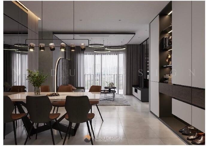 Thiết kế căn hộ đẹp bằng hình khối khác lạ