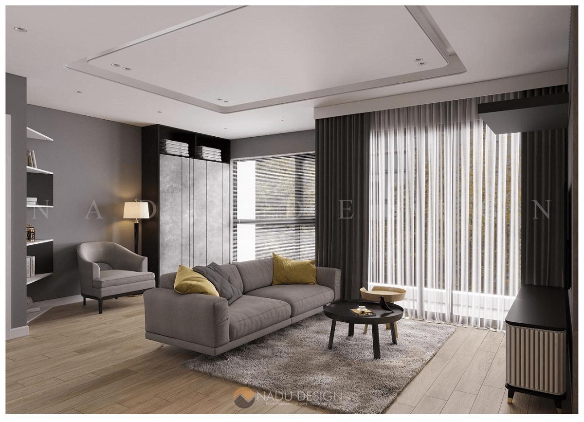 Thiết kế chung cư mini cho thuê đẹp theo không gian mở