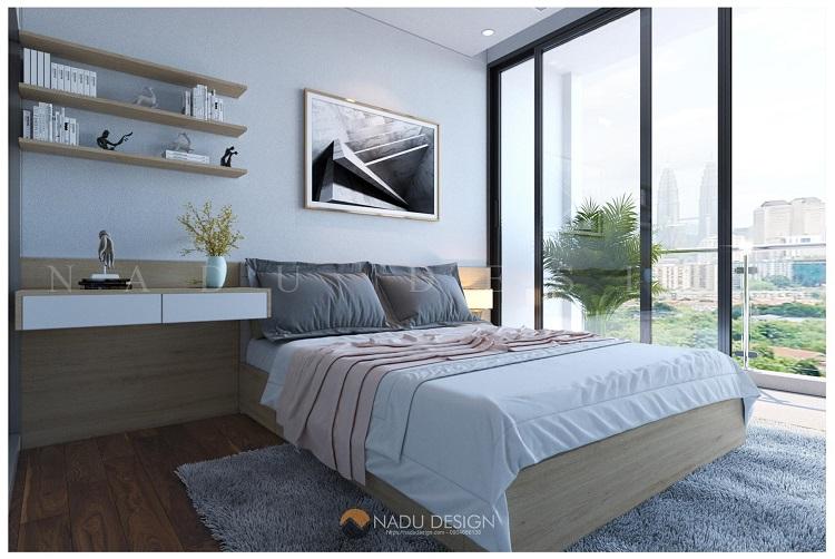Thiết kế nội thất chung cư 100m2 2 phòng ngủ đẹp hiện đại