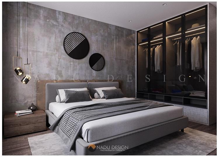 Thiết kế phòng ngủ master chung cư 100m2 3 phòng ngủ