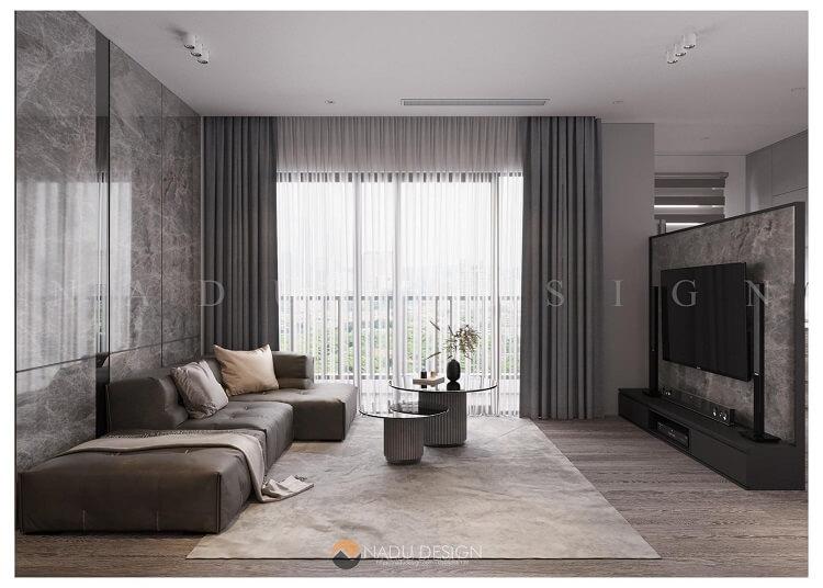 Thiết kế nhà chung cư 100m2 3 phòng ngủ