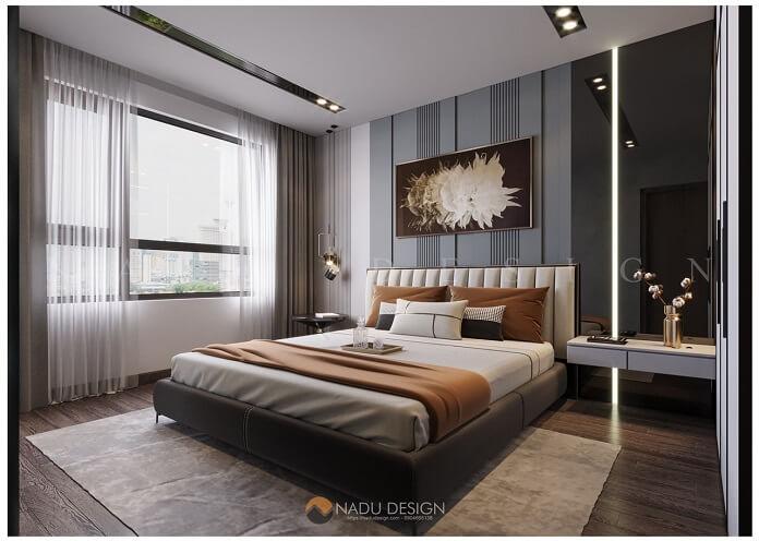 Thiết kế nội thất phòng ngủ chung cư 100m2