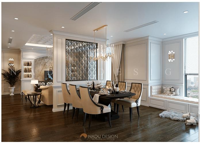 Thiết kế nội thất chung cư 120m2 đẹp và hiện đại