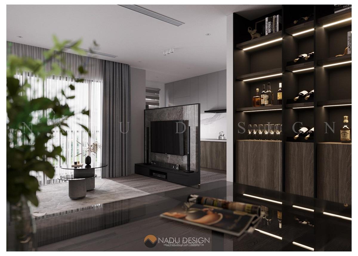 Thiết kế nội thất chung cư 150m2 phong cách hiện đại