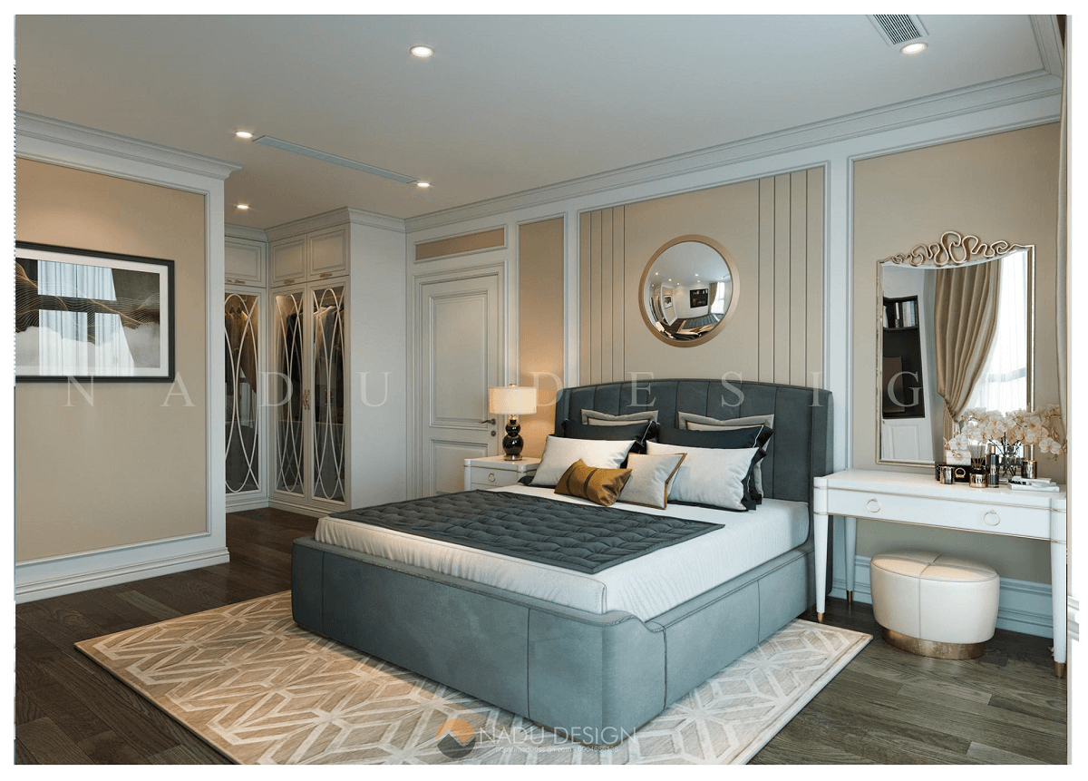 Thiết kế nội thất chung cư 150m2 phong cách tân cổ điển