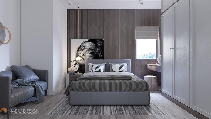 Thiết kế nội thất chung cư 3 phòng ngủ phong cách hiện đại view phòng ngủ