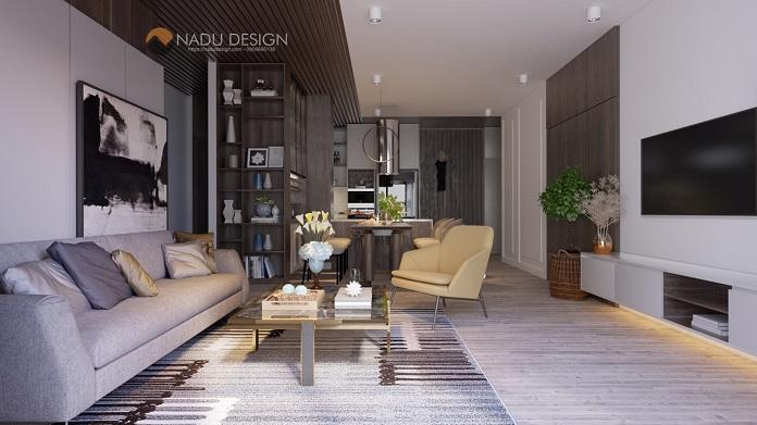 Thiết kế nội thất chung cư 3 phòng ngủ phong cách hiện đại
