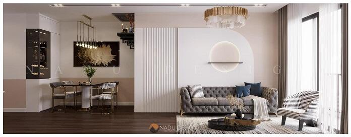 Mẫu thiết kế nội thất chung cư 90m2 đẹp