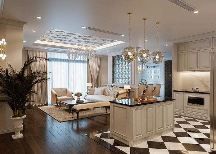 Thiết kế nội thất chung cư 120m2 đẹp