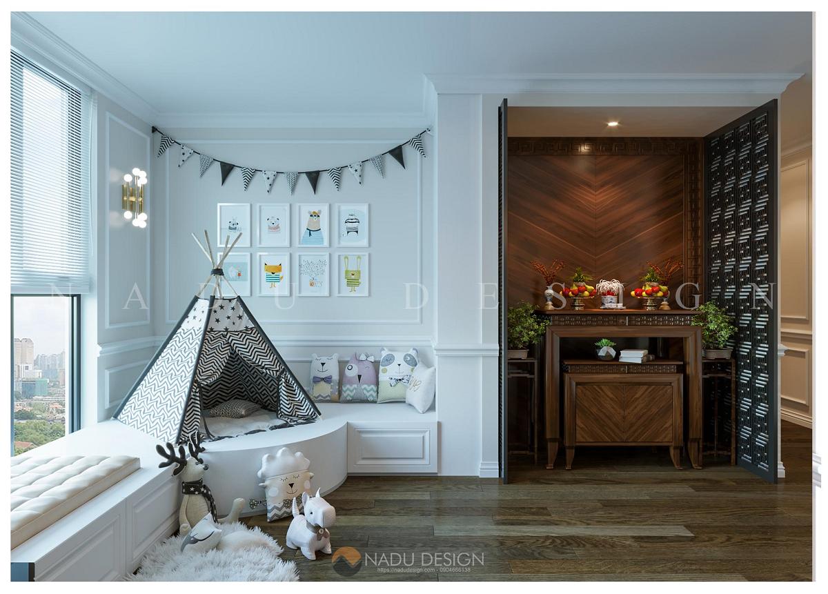 Thiết kế nội thất khách bếp chung cư đẹp